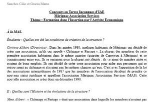 E2 Merignac association service Sanches Gracia